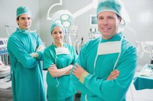 Joint arthroscopy surgery team